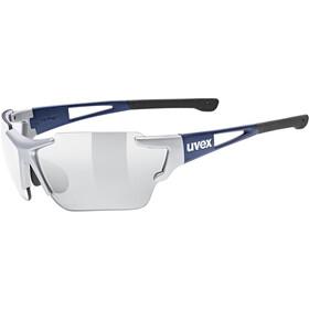 UVEX Sportstyle 803 Race Vario Glasses Small, silver blue metallic/litemirror silver